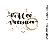 """hand drawn lettering """"coffee... 