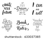 set of inspirational and... | Shutterstock . vector #633037385