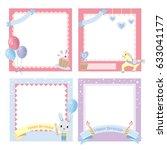 cute photo frame baby  set of... | Shutterstock .eps vector #633041177
