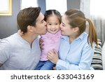 asian family  father and mother ...   Shutterstock . vector #633043169