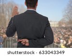 politician liar gives people... | Shutterstock . vector #633043349