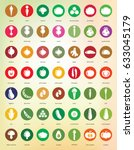 vegetable icons   big set of... | Shutterstock .eps vector #633045179