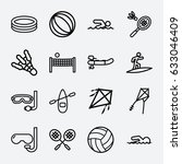 activity icon. set of 16... | Shutterstock .eps vector #633046409