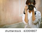 female photographer with... | Shutterstock . vector #63304807