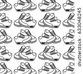 figure comfortable sneakers... | Shutterstock .eps vector #633048245