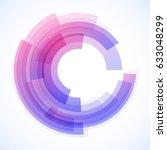 geometric frame from circles ... | Shutterstock .eps vector #633048299