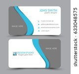 business card. design set... | Shutterstock .eps vector #633048575