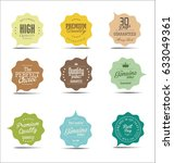 modern sale stickers collection  | Shutterstock .eps vector #633049361