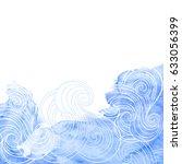 marine background. vector... | Shutterstock .eps vector #633056399