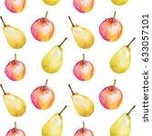 watercolor seamless pattern...   Shutterstock . vector #633057101