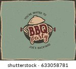 bbq party typography poster... | Shutterstock .eps vector #633058781