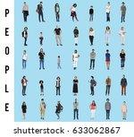 diversity people set gesture... | Shutterstock . vector #633062867