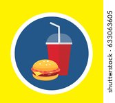 fastfood vector drink and... | Shutterstock .eps vector #633063605