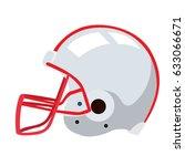 isolated football helmet on a...   Shutterstock .eps vector #633066671