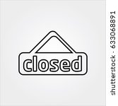 closed line icon | Shutterstock . vector #633068891