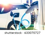power supply for electric car... | Shutterstock . vector #633070727