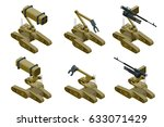 set of a military robots of... | Shutterstock .eps vector #633071429