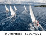 Fleet of sailing boats during...