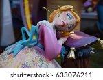 valencia  spain   march 19 ... | Shutterstock . vector #633076211