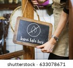 trans fats free lifestyle... | Shutterstock . vector #633078671