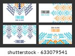 aztec style colorful business...   Shutterstock .eps vector #633079541