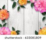 mother's day bright flower... | Shutterstock . vector #633081809