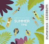 vector illustration. summertime ... | Shutterstock .eps vector #633088694