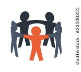 teamwork abstract symbol | Shutterstock .eps vector #633100355