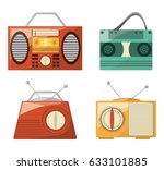 retro radio to listent station... | Shutterstock .eps vector #633101885