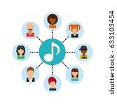 social media community icons | Shutterstock .eps vector #633103454