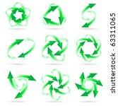 set of different green arrow...   Shutterstock .eps vector #63311065