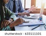business team meeting. photo... | Shutterstock . vector #633111101