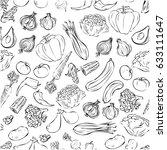 vegetables | Shutterstock .eps vector #633111647