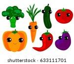 vegetables | Shutterstock .eps vector #633111701