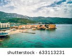 old town in budva in a... | Shutterstock . vector #633113231