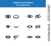 visible invisible icon symbol... | Shutterstock .eps vector #633114065