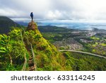 Woman Standing On The Peak Of ...