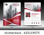 business brochure flyer... | Shutterstock .eps vector #633119075