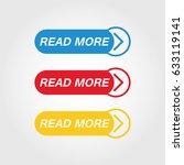 read more button vector | Shutterstock .eps vector #633119141