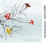 Winter Trees Brunch  Vector...