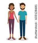 couple of young parents | Shutterstock .eps vector #633128681