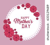 happy mothers day card | Shutterstock .eps vector #633129689