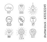 cartoon lamp light bulb design... | Shutterstock .eps vector #633132245