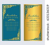 vintage invitation and wedding... | Shutterstock .eps vector #633136319