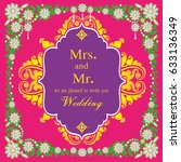 vintage invitation and wedding... | Shutterstock .eps vector #633136349