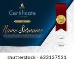 certificate template luxury and ... | Shutterstock .eps vector #633137531