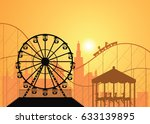 silhouettes of a city and... | Shutterstock .eps vector #633139895