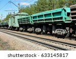 moving freight train passing by | Shutterstock . vector #633145817