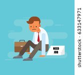unemployed man | Shutterstock .eps vector #633147971