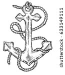 Anchor And Rope Engraving...